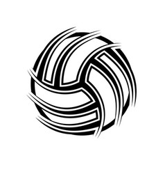 volleyball abstract symbol outline background vector image