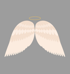 wings angel isolated animal feather pinion bird vector image