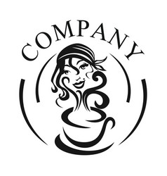 woman gypsy logo vector image