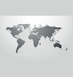 world map with 3d shadow vector image