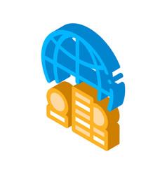 Worldwide money isometric icon vector