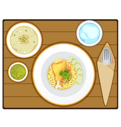 yellow rice vector image