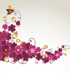Abstract background with violet clover vector image vector image