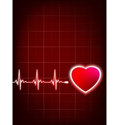 Abstract heart beats cardiogram EPS 8 vector image vector image