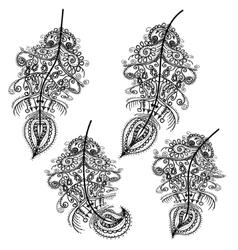 Decorative Feather Tribal design Tattoo vector image