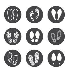 Footprint icons set vector image