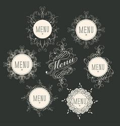 label set for restaurant menu design vector image vector image