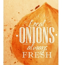 Poster onion vector image vector image