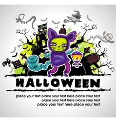 spooky halloween composition 2 vector image vector image