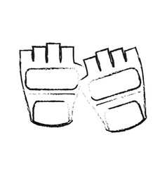 Weight lifting gloves sport or health icon image vector