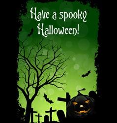 Abstract Green Halloween Card vector image vector image