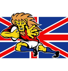 british lion rugby vector image vector image