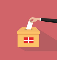 denmark vote election concept with vector image