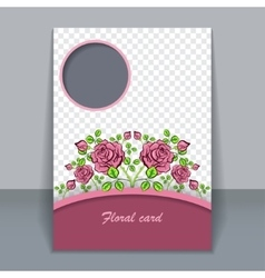 floral card invitation for design vector image