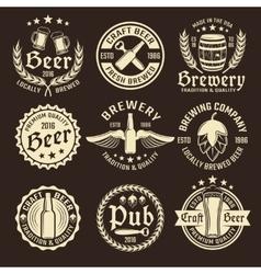 Light Beer Emblem Set vector image