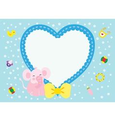 Love Elephant New Born Girl vector image vector image