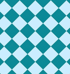 Seamless blue checkered pattern vector image