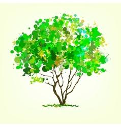 Summer tree of blots background vector image