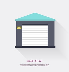 Warehouse Warehouse icons logistic blank and vector image vector image