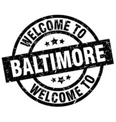 welcome to baltimore black stamp vector image