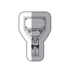 Construction worker cartoon vector image vector image