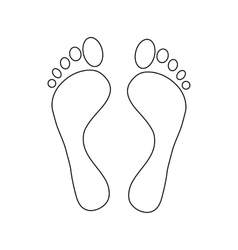 Human feet icon outline style vector image
