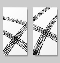 posters with tire tracks vector image