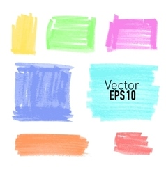 Set of colored paint stains for your design vector image