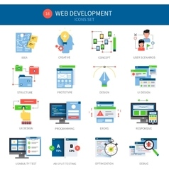 Web Development Icon Set vector image vector image