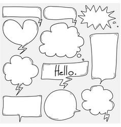 hand drawn bubbles set vector image