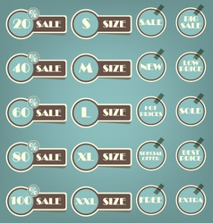 Set of sale labels retro vector image vector image