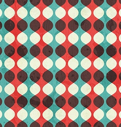 vintage seamless pattern with grunge effect vector image