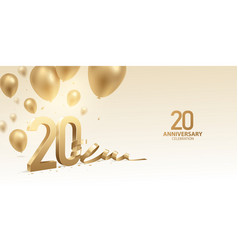 20th anniversary celebration background vector image