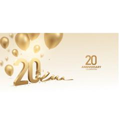 20th anniversary celebration background vector