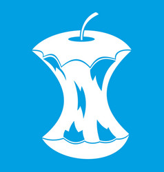 apple core icon white vector image