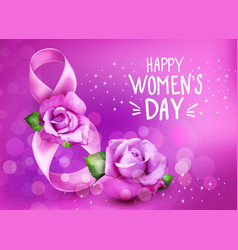background to 8th march womens day vector image