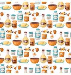 baking pastry prepare cooking ingredients kitchen vector image