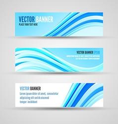 banners blue ocean vector image