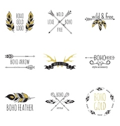 Boho Logo Set vector