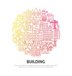 building circle concept vector image
