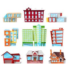 Building facade of house in cityscape vector