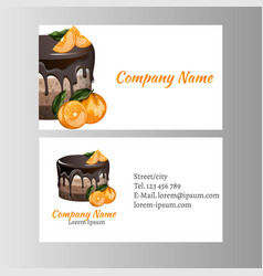 Business card template for bakery business vector