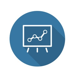 Business Flip Chart Flat Icon vector