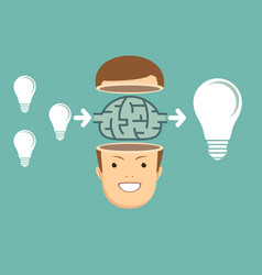 businessman think about ideas vector image