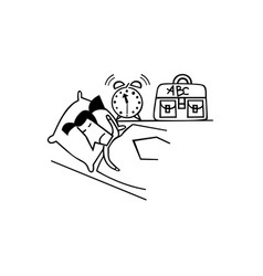 Cartoon character businessmen do not wake up from vector