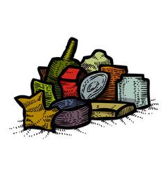 cartoon image of garbage symbol vector image