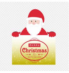 christmas card with santa caluse vector image