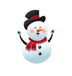 christmas snowman decoration celebration vector image