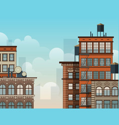 City rooftops vector