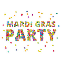 colorful round confetti carnival mardi gras party vector image